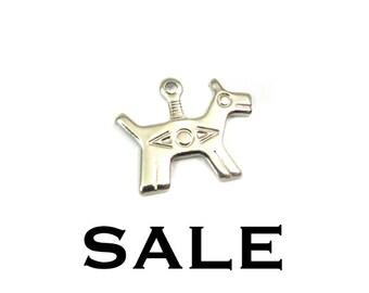Brass Native American Tiny Dog Charms (16X) (V174-B) SALE - 50% off