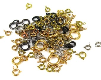 Assorted Mix of Spring and Lobster Clasps - (30x) (F591)