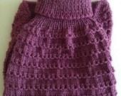 Knitted Dog Coat, Dog Sweater Hand Knit,Violet Dog sweater, Smart Dog Sweater,