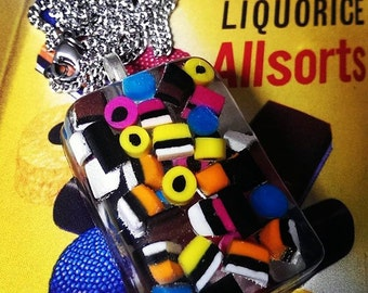 Liquorice Allsorts Resin Necklace