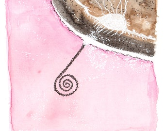 Spiral Jetty, original watercolour painting by melanie j cook,
