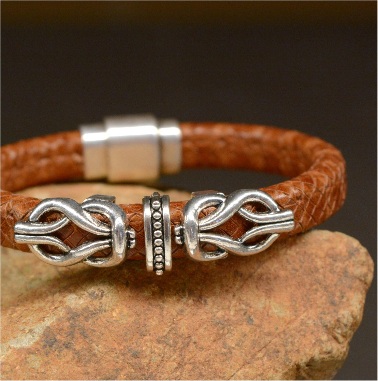 leather cuff bracelet celtic knot unisex b1844 price. Black Bedroom Furniture Sets. Home Design Ideas