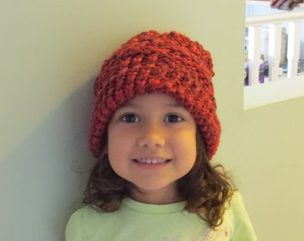 Cute Girls Red Slouch Hat