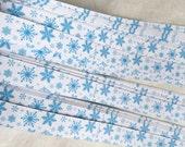 "3/8"" Weaving Star Paper~ Blue Snowflakes (50 strips)"