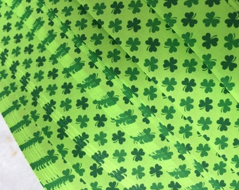 "3/4"" Weaving Star Paper~ Green Clovers (50 strips)"