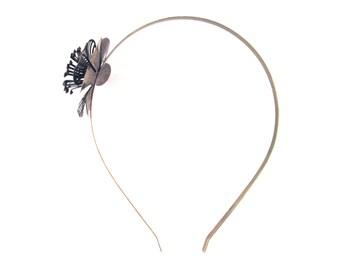 1 Brass Plated Flower Filigree Headband