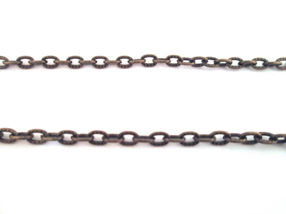 Brass plated carved cross chain, lead and nickel free  chain no. b9
