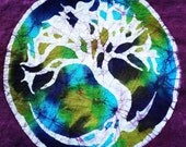 Batik Tree of Life T Shirt- Size  S