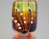 Autumn Kiss - 1 Warm, Delicate Autumn Floral Kalera Lampwork Focal Bead