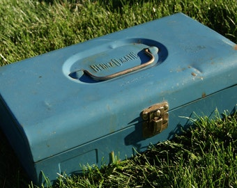 SALE!  Vintage Blue Metal Bernzomatic Tool / Torch Box