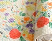 Japanese Fabric Nani Iro Fuccra : rakuen AW quilted brushed cotton - A - 50cm