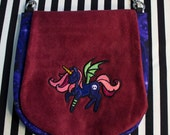Pouch Spare Pocket Embroidery Cute Goth Pony