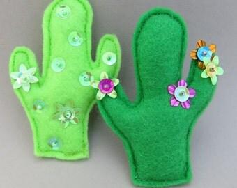 Cactus Brooch - Cactus Pin - Mexicana - Cactus Jewelry - Arizona - Wild West - Rockabilly