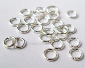 100 pcs 4mm Closed (Soldered) Jump Rings 925 Sterling Silver 22 gauge F29C
