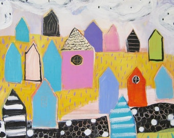 Original painting by Michelle Daisley Moffitt....Colorful Houses