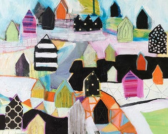 Original painting by Michelle Daisley Moffitt.....Urban Sprawl
