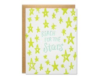 Reach for the Stars Letterpress Card