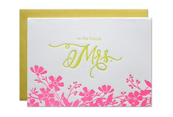 Future Mrs. Letterpress Card