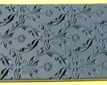 DANDELION EMBOSSED  Clay Texture Imprint, Rubber Stamp Mat Inks Paint  TTL514