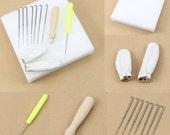 Needle Felting Starter Kit Wool Felt Tools Mat  , Needle ,Craft Kit