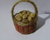 Realistic food Miniature Basket FULL of Fresh potatoes Dolls House Miniature Food diorama ooak art PR# 30
