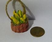 Realistic food Miniature Basket FULL of Fresh corn vegetable Dolls House Miniature Food diorama ooak art PR# 3790