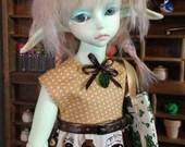 4 piece Tanuki Dress set for MSD/Minifee sized BJDs
