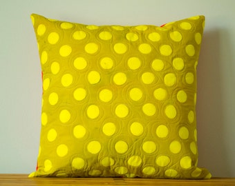 Peg Print Hand Dyed and Patterned Pillow Cover