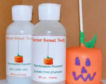 Pumpkin Marshmallow Shampoo and Conditioner Set (Sulfate and Paraben Free)