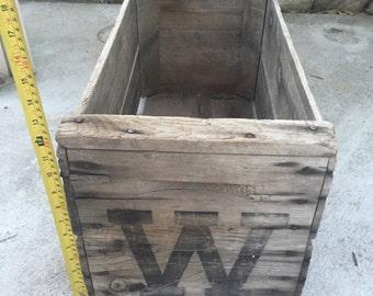Wood Fruit Crate Box Rustic Farm Free Shipping