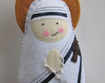 Saint Teresa of Calcutta....Felt Softie