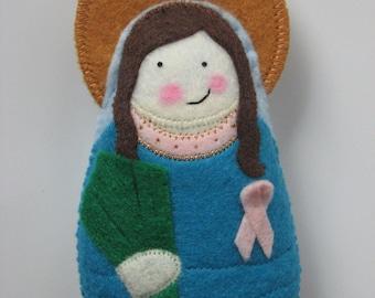Saint  Agatha Felt Saint Softie