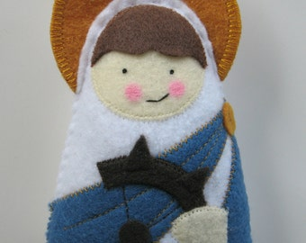 Saint Catherine of Alexandria Felt  Saint Softie