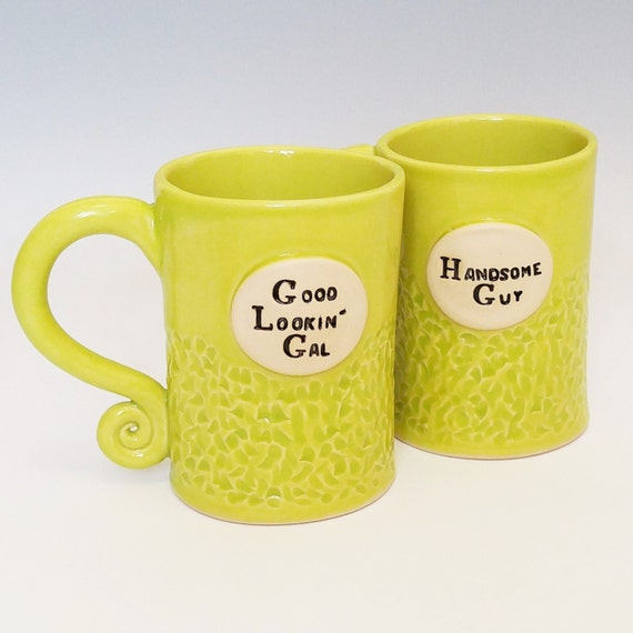 Coffee Mug - Large Coffee Mug - Stoneware Mug - Ceramic Coffee Mugs - Handmade Coffee Mugs - Pottery Coffee Mugs - Set of 2 Mugs - Funny Mug