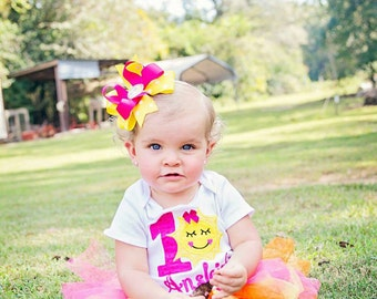 Sunshine with Number One Piece Bodysuit or t-shirt - baby girl shirt - first birthday party - Mommy's Sunshine - You are my Sunshine