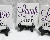 LIVE well, LAUGH often, LOVE much wall tiles