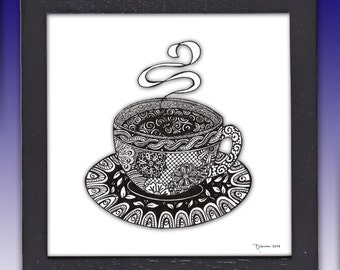 Tea cup, Coffee Cup, Art Print
