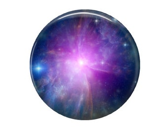 Nebula - Glass Image Cabochon - Choice of 12mm, 16mm, 20mm, 25mm and 30mm Round