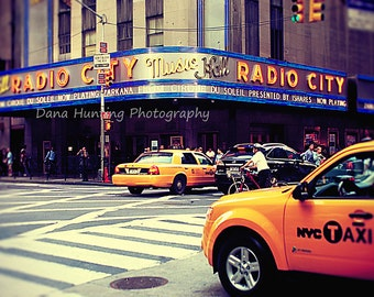 New York City Photo // NYC Photo // New York Taxi Photo // Radio City Music Hall // Fine Art Travel Photography