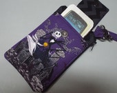 Womens Wristlet Wallet or Small Bag with Smart Phone Pocket Nightmare Before Christmas