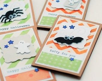 Super Cute Halloween Sampler Mini Cards or Tags,