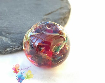 Glass Lampwork Bead Glamour Globe