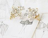 Crystal Embellished Earrings, Bridal Earrings, Swarovski, Vintage Glamorous Inspired Earrings, Wedding Jewelry