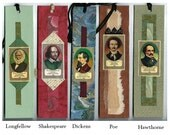 Famous Authors Collage Bookmarks Each Sold Separately