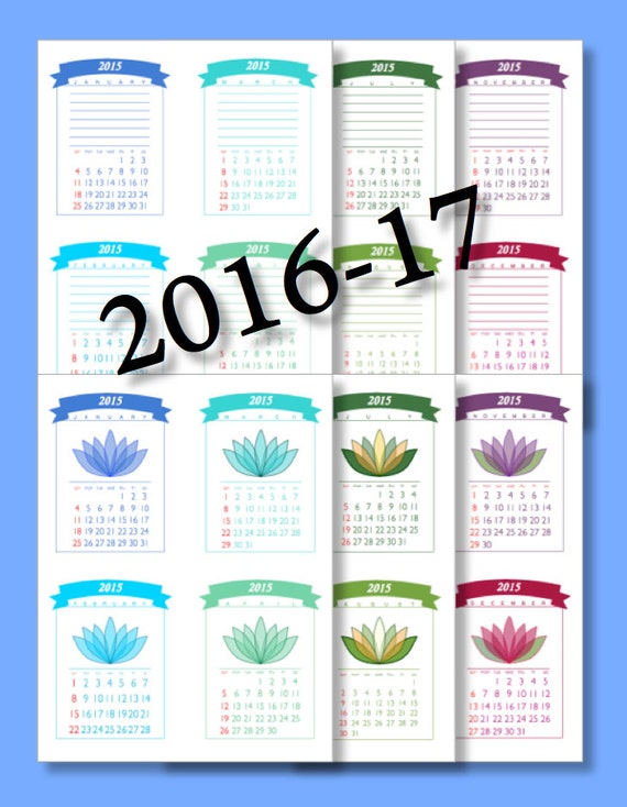 Printable POCKET Calendar, Instant Download DESK CALENDAR and Calendar ...
