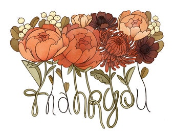 Thank You Card / Floral