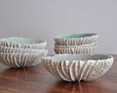 Large Scallop Bowl - Coice of Color Handmade Ceramic Bowl Porcelain Bowl