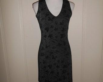 Vintage 90s  floral short   dress, stretchy, dress, grunge, punk, fitted