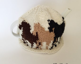 Wild Horses Knitted Teapot Cozy
