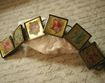 Flowers in Gold Bracelet